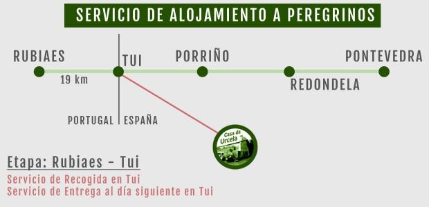 Alojamiento a peregrinos camino portugues Porriño